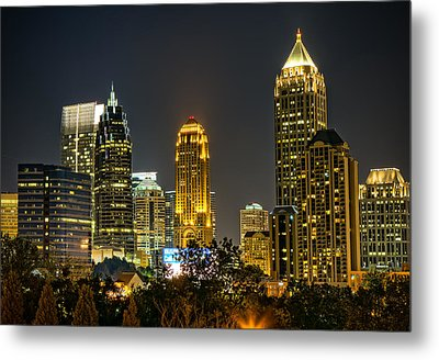 Atlanta Skyscrapers  Metal Print by Anna Rumiantseva