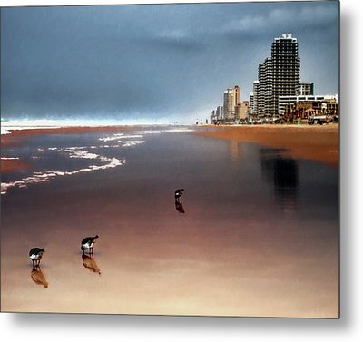 Metal Print featuring the photograph Atlantic Beach by Jim Hill