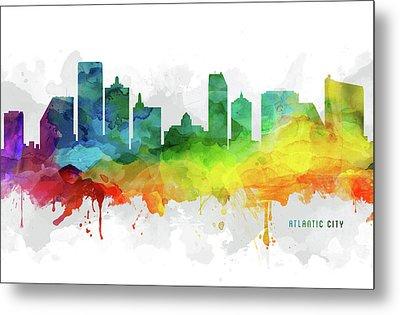 Atlantic City Skyline Mmr-usnjac05 Metal Print