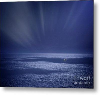 Atlantic Night Metal Print by Edmund Nagele
