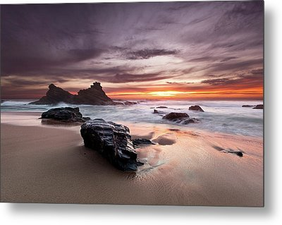 Metal Print featuring the photograph Atlantic Seashore by Jorge Maia