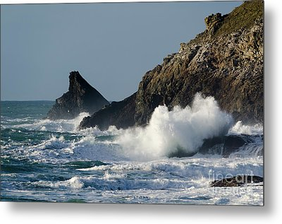 Atlantic Splash Metal Print by Steev Stamford