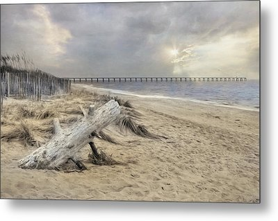 Atlantic Sunrise Metal Print by Lori Deiter