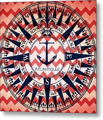 Atlantique Compass Metal Print