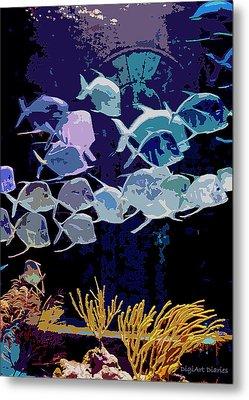 Atlantis Aquarium Metal Print by DigiArt Diaries by Vicky B Fuller