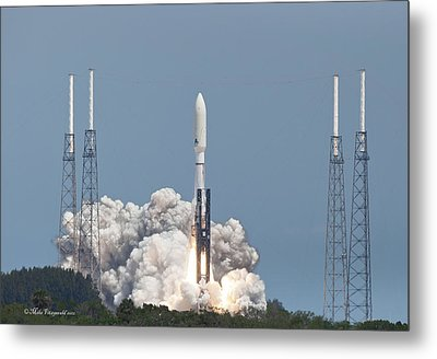 Atlas V Launch Metal Print by Mike Fitzgerald