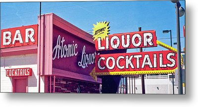 Metal Print featuring the photograph Atomic Liquors by Matthew Bamberg