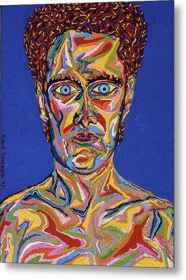 Atomic Visions - Self Portrait Metal Print by Robert SORENSEN
