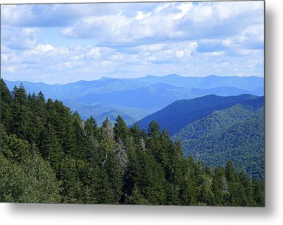 Atop The Cherohala Metal Print by Laurie Perry