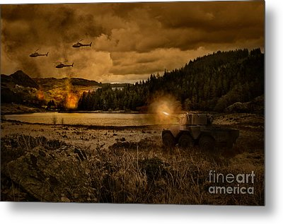 Attack At Nightfall Metal Print