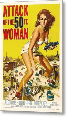 Attack Of The 50 Ft Woman 1958 Metal Print