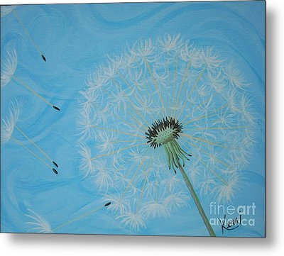 Attack On The Garden Metal Print by Kerri Ertman