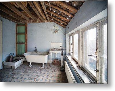 Attic Bathroom - Urban Exploration Metal Print by Dirk Ercken