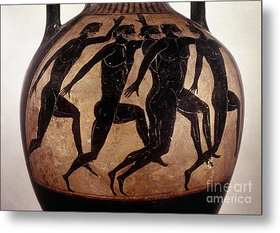 Attic Black-figured Vase Metal Print by Granger