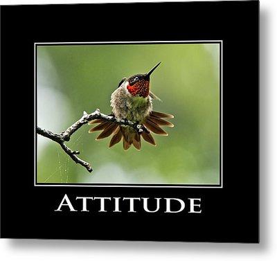 Attitude Inspirational Motivational Poster Art Metal Print by Christina Rollo