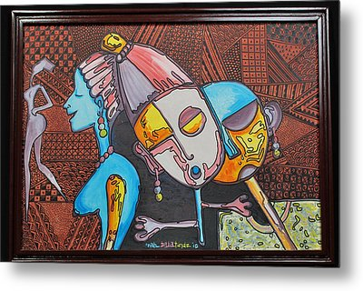 Attraction Of Femininity Metal Print by Olawale Babatunde