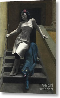 Attraction The Stairs Of Love Metal Print by Kelly Borsheim