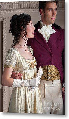 Metal Print featuring the photograph Attractive Regency Couple by Lee Avison