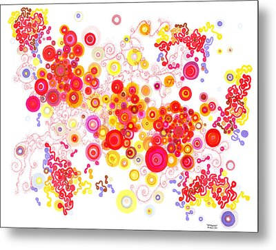 Attractors Metal Print by Regina Valluzzi