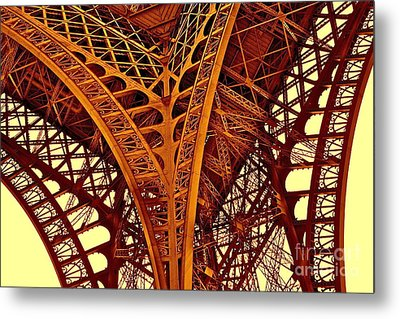 Metal Print featuring the photograph Au Pied De La Tour Eiffel by Danica Radman