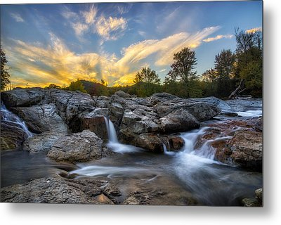 Metal Print featuring the photograph Auasble River Sunset 2 by Mark Papke