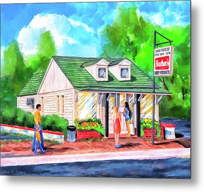 Auburn Sani-freeze - The Flush Metal Print
