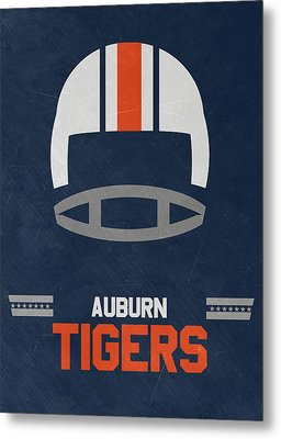 Auburn Tigers Vintage Football Art Metal Print