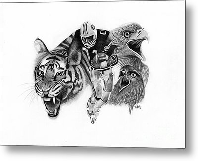 Auburn Tigers War Eagle Metal Print by Bryan Knudsen