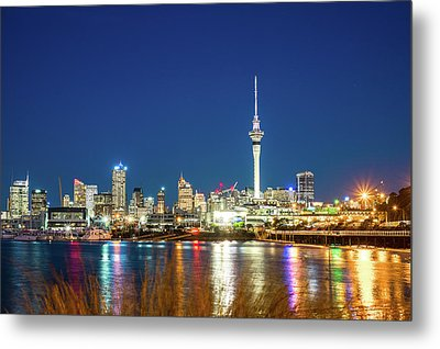 Auckland At Dusk Metal Print