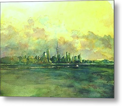 Auckland By Sea Metal Print by Virgil Carter