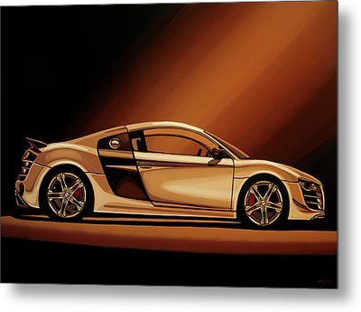 Audi R8 2007 Painting Metal Print by Paul Meijering
