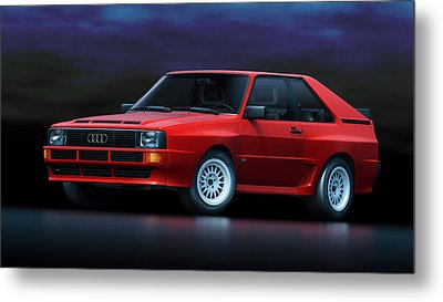 Audi Sport Quattro Metal Print by Marc Orphanos