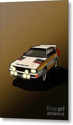 Audi Sport Quattro Ur-quattro Rally Poster Metal Print by Monkey Crisis On Mars