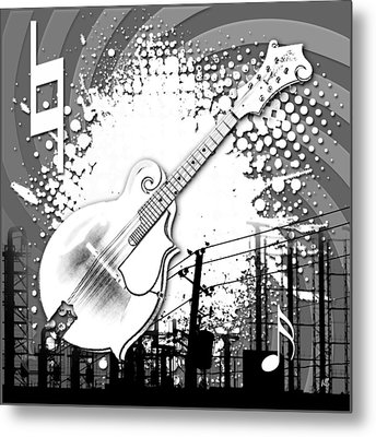 Audio Graphics 4 Metal Print by Melissa Smith