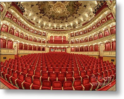 Metal Print featuring the photograph Auditorium Of The Great Theatre - Opera by Michal Boubin