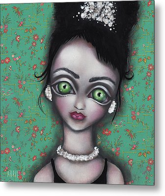 Audrey Hepburn Metal Print by Abril Andrade Griffith