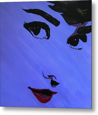 Audrey Hepburn-eyes For You Metal Print