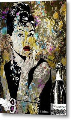 Audrey Hepburn Tribute  Metal Print by Angela Holmes