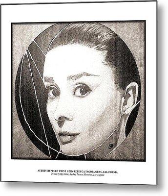 Audreyhepburnprint Metal Print by Rebecca Tacosa Gray