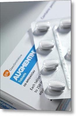 Augmentin Antibiotic Pills Metal Print by Tek Image