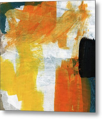 August- Abstract Art By Linda Woods. Metal Print by Linda Woods