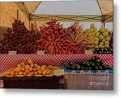 August Vegetables Metal Print