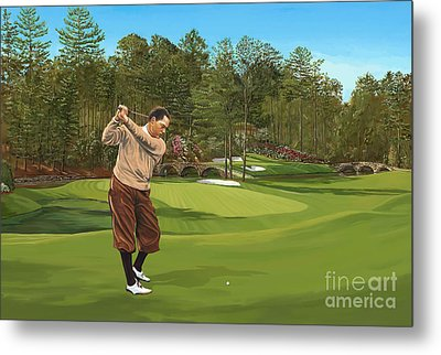 Augusta 11 And 12th Hole Bobbyjones Metal Print