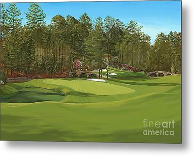 Augusta 11 And12th Hole Metal Print
