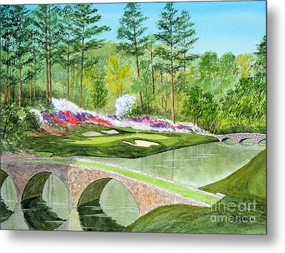 Augusta National Golf Course 12th Hole Metal Print by Bill Holkham