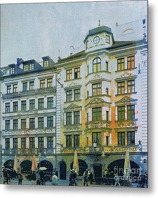 Augustiner Munich Metal Print by Jutta Maria Pusl