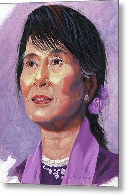 Aung San Suu Kyi Metal Print by Steve Simon