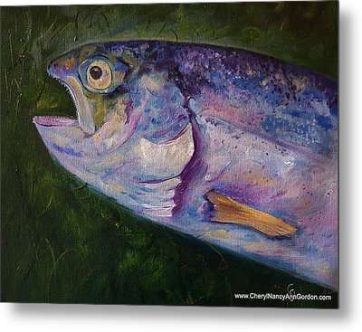 Aurons Rainbow Trout Metal Print