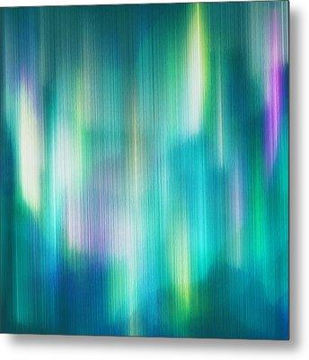 Aurora Borealis Abstract Metal Print by Lourry Legarde