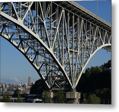 Aurora Bridge - Seattle Metal Print by Sonja Anderson
